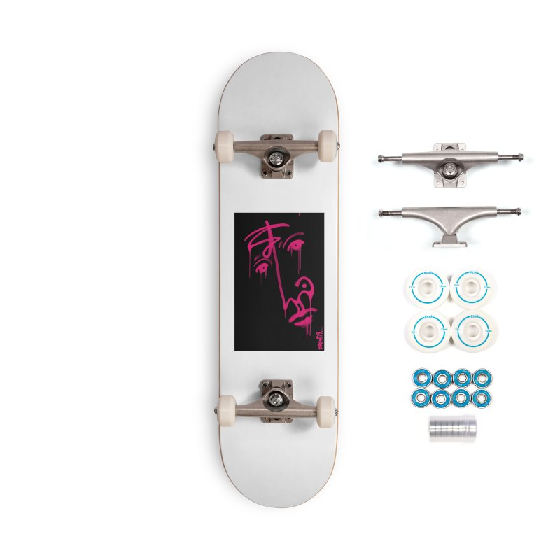 Mr. Pink Accessories Complete - Basic Skateboard by Fuzzy Poet's Artist Shop
