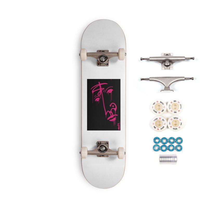 Mr. Pink Accessories Complete - Premium Skateboard by Fuzzy Poet's Artist Shop