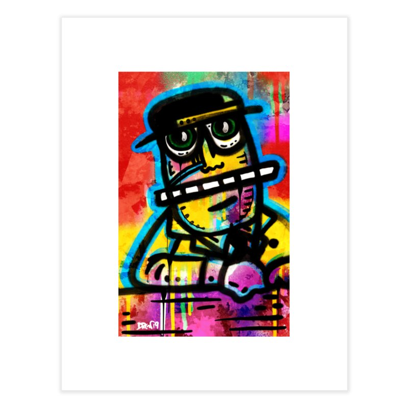 Fedora Dude Home Fine Art Print by Sophisticated Lowbrow Art For The Discerning Masse