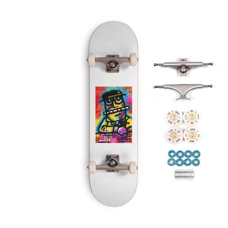 Fedora Dude Accessories Skateboard by Sophisticated Lowbrow Art For The Discerning Masse