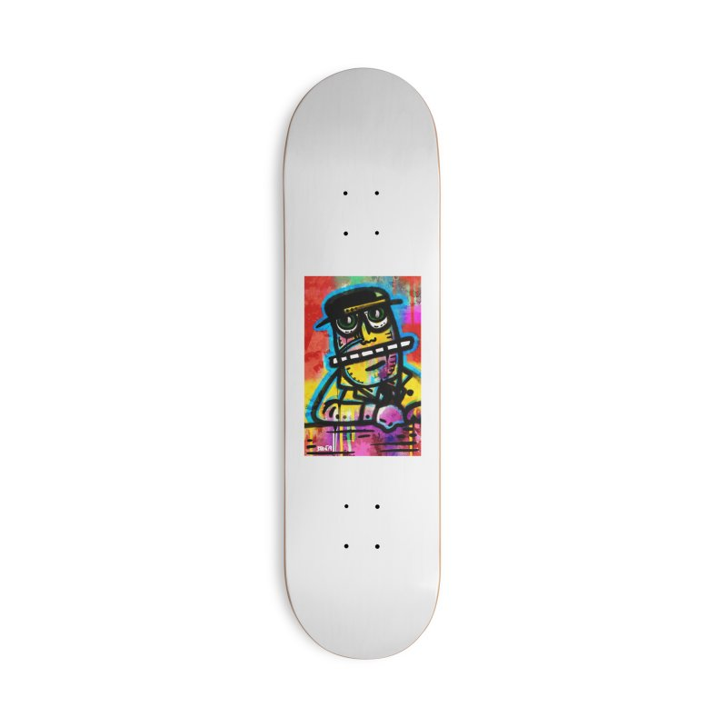 Fedora Dude Accessories Deck Only Skateboard by Fuzzy Poet's Artist Shop