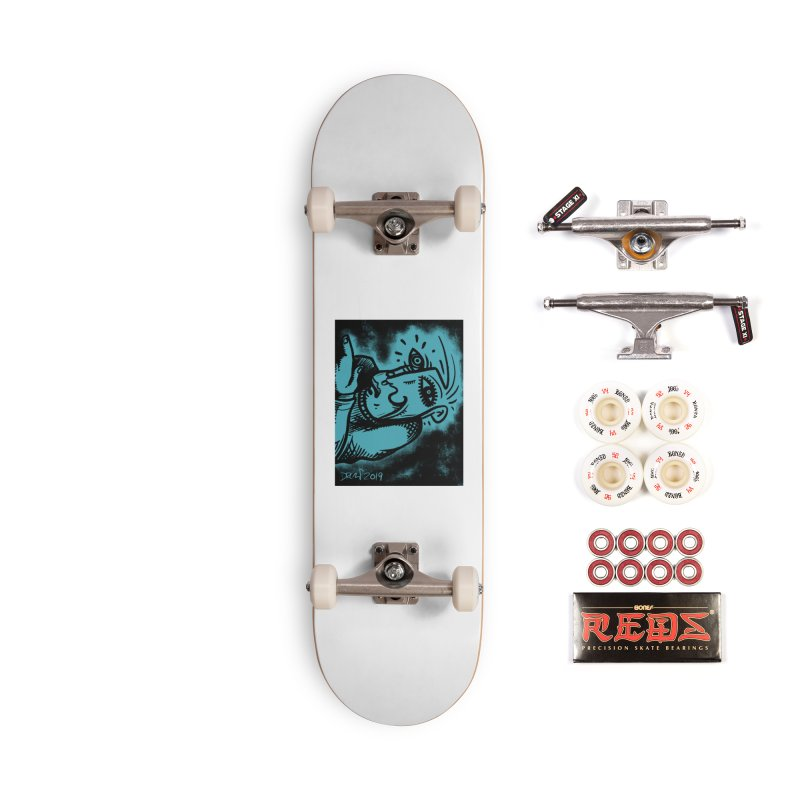 Paranoid Accessories Complete - Pro Skateboard by Fuzzy Poet's Artist Shop