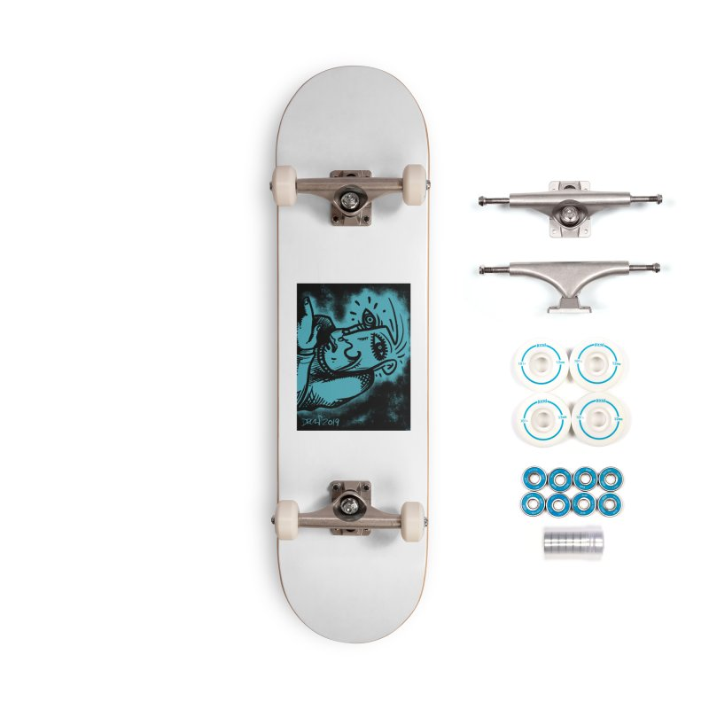 Paranoid Accessories Complete - Basic Skateboard by Fuzzy Poet's Artist Shop