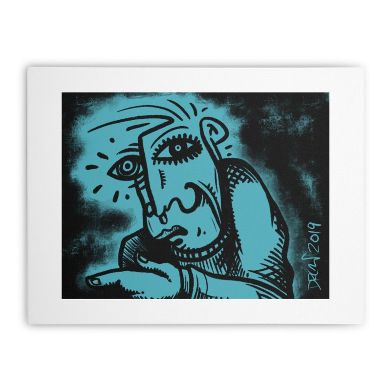 Paranoid Home Stretched Canvas by Fuzzy Poet's Artist Shop