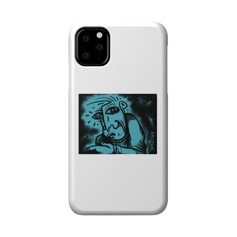 Paranoid Accessories Phone Case by Fuzzy Poet's Artist Shop