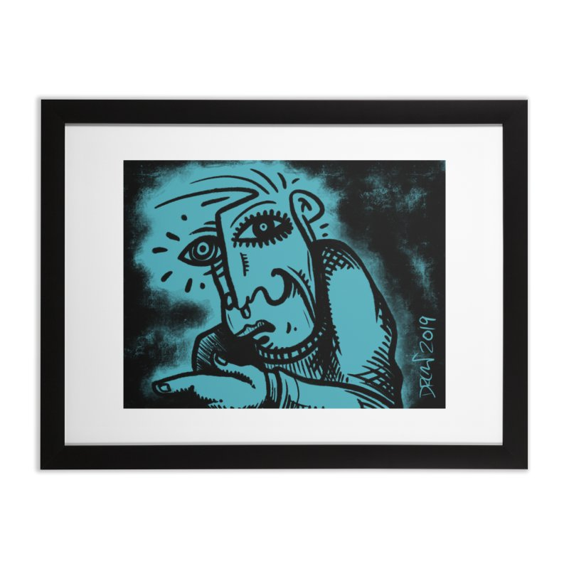 Paranoid Home Framed Fine Art Print by Fuzzy Poet's Artist Shop