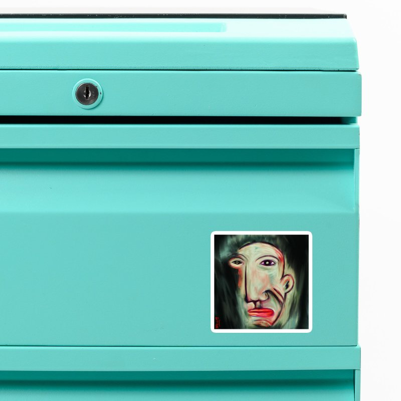 Painterly Face Accessories Magnet by Fuzzy Poet's Artist Shop