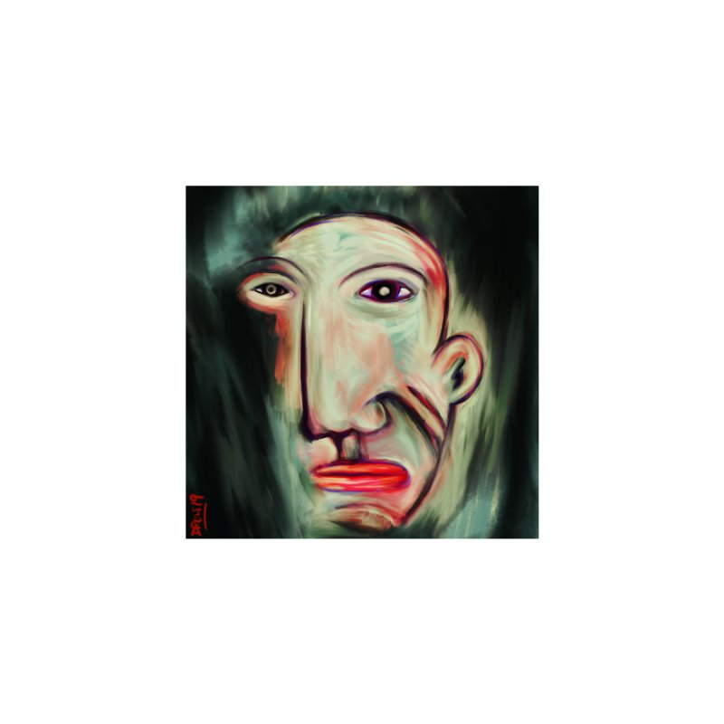 Painterly Face by Fuzzy Poet's Artist Shop