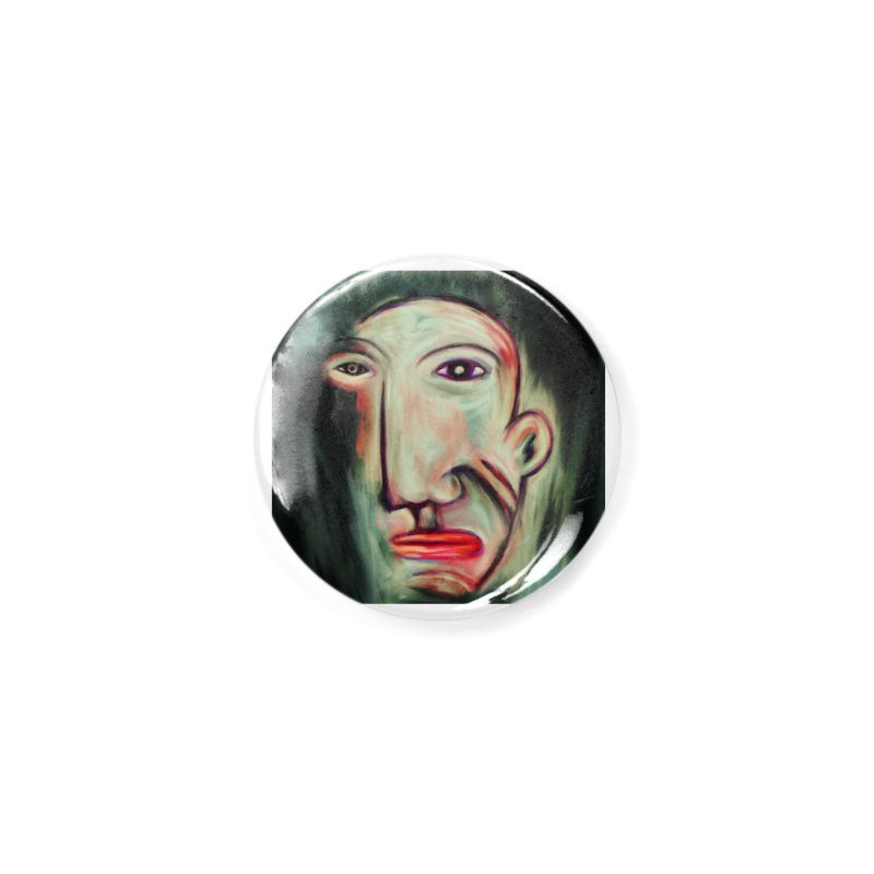 Painterly Face Accessories Button by Fuzzy Poet's Artist Shop