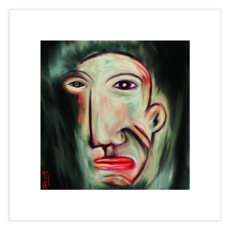 Painterly Face Home Fine Art Print by Fuzzy Poet's Artist Shop