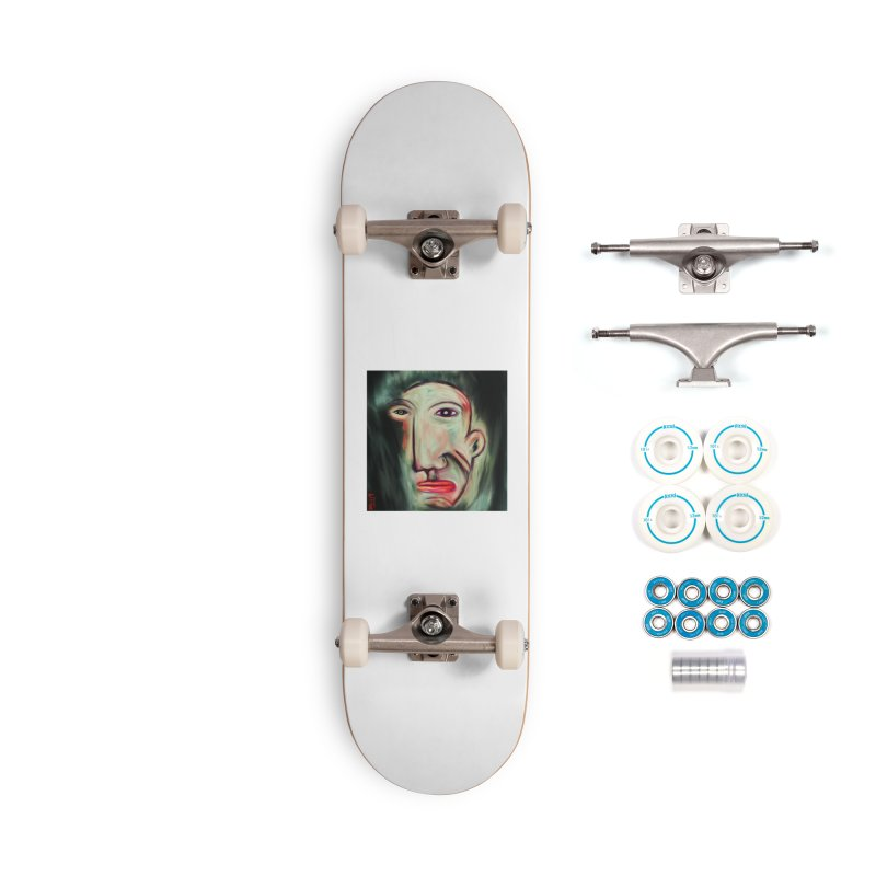 Painterly Face Accessories Complete - Basic Skateboard by Fuzzy Poet's Artist Shop