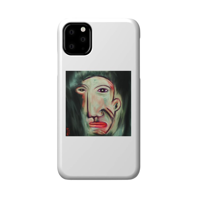 Painterly Face Accessories Phone Case by Fuzzy Poet's Artist Shop