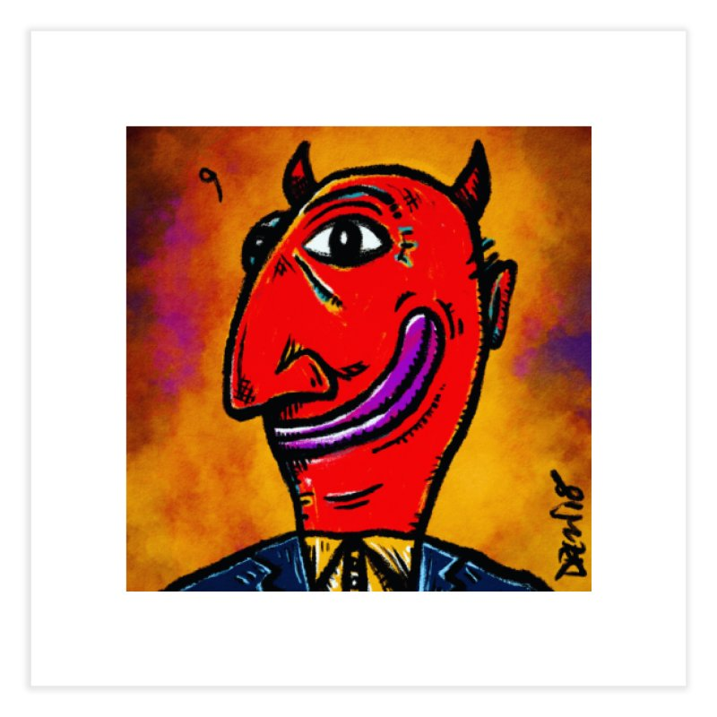 Smiling Diablo Home Fine Art Print by Sophisticated Lowbrow Art For The Discerning Masse