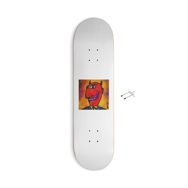 Smiling Diablo Accessories With Hanging Hardware Skateboard by Fuzzy Poet's Artist Shop