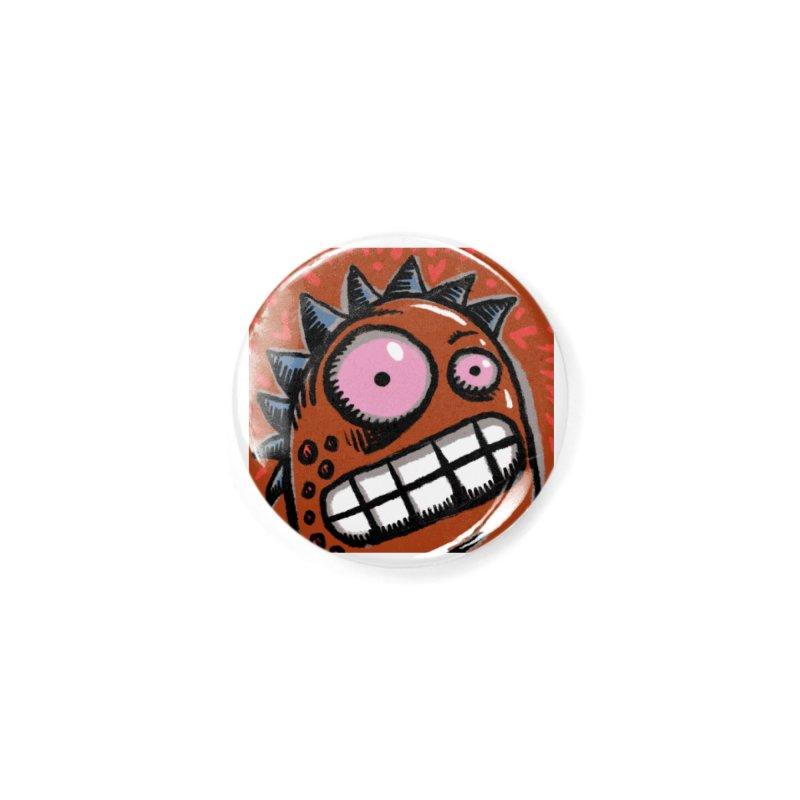 Spikey Guy Accessories Button by Fuzzy Poet's Artist Shop