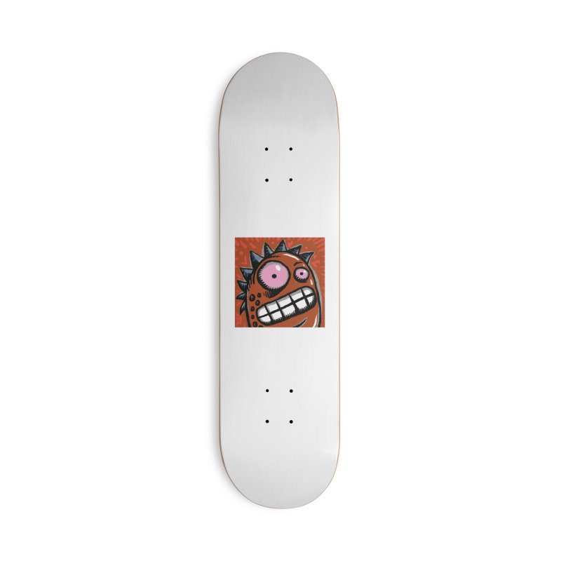 Spikey Guy Accessories Deck Only Skateboard by Fuzzy Poet's Artist Shop