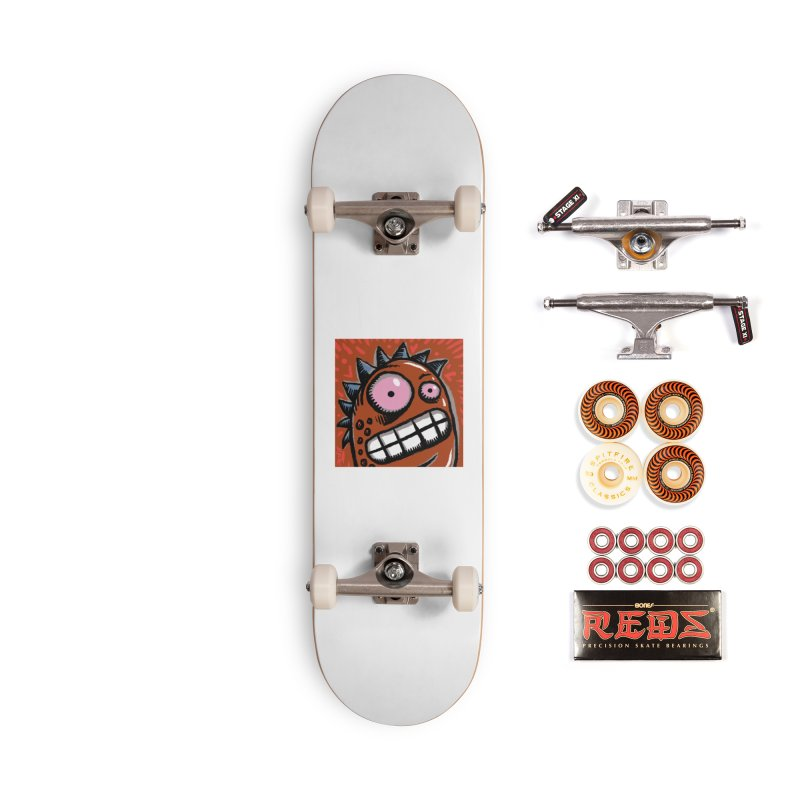 Spikey Guy Accessories Skateboard by Sophisticated Lowbrow Art For The Discerning Masse
