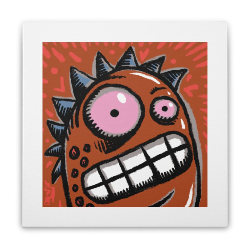 Spikey Guy Home Stretched Canvas by Fuzzy Poet's Artist Shop