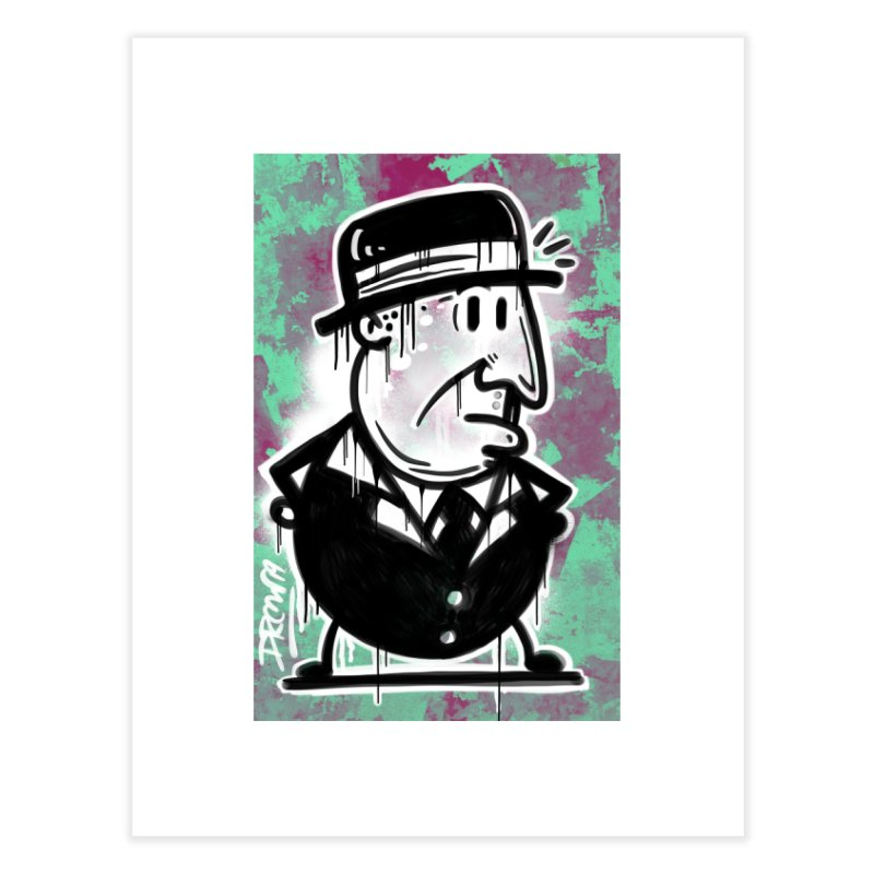 Top Hat Home Fine Art Print by Fuzzy Poet's Artist Shop