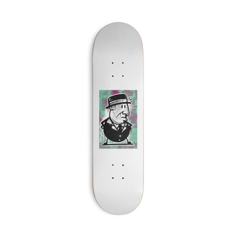 Top Hat Accessories Deck Only Skateboard by Fuzzy Poet's Artist Shop