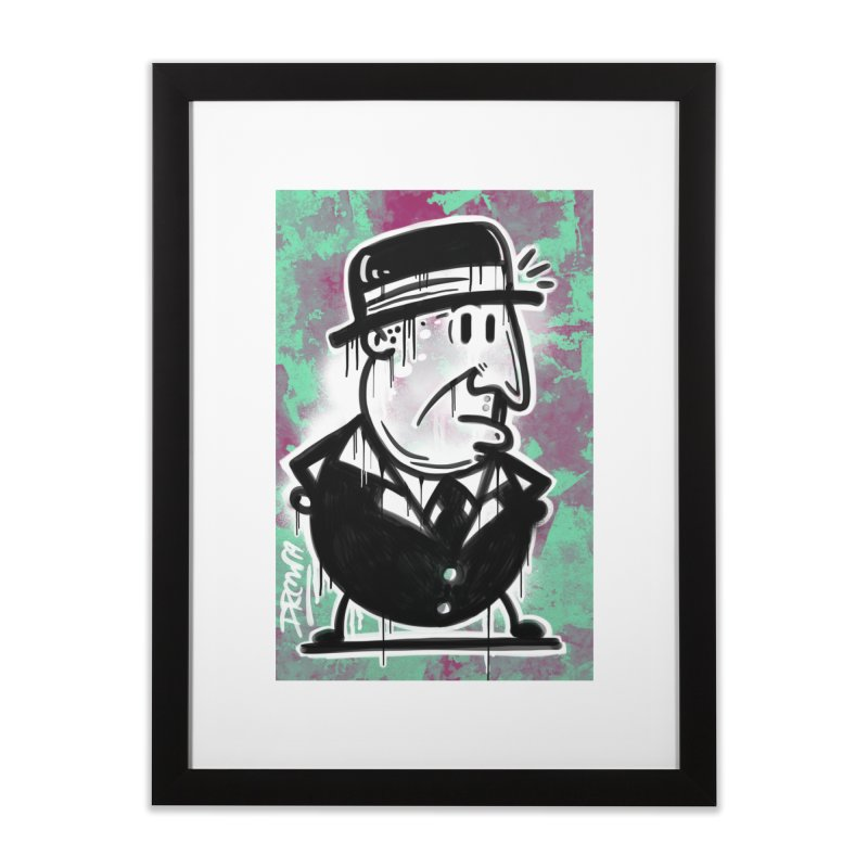 Top Hat Home Framed Fine Art Print by Fuzzy Poet's Artist Shop