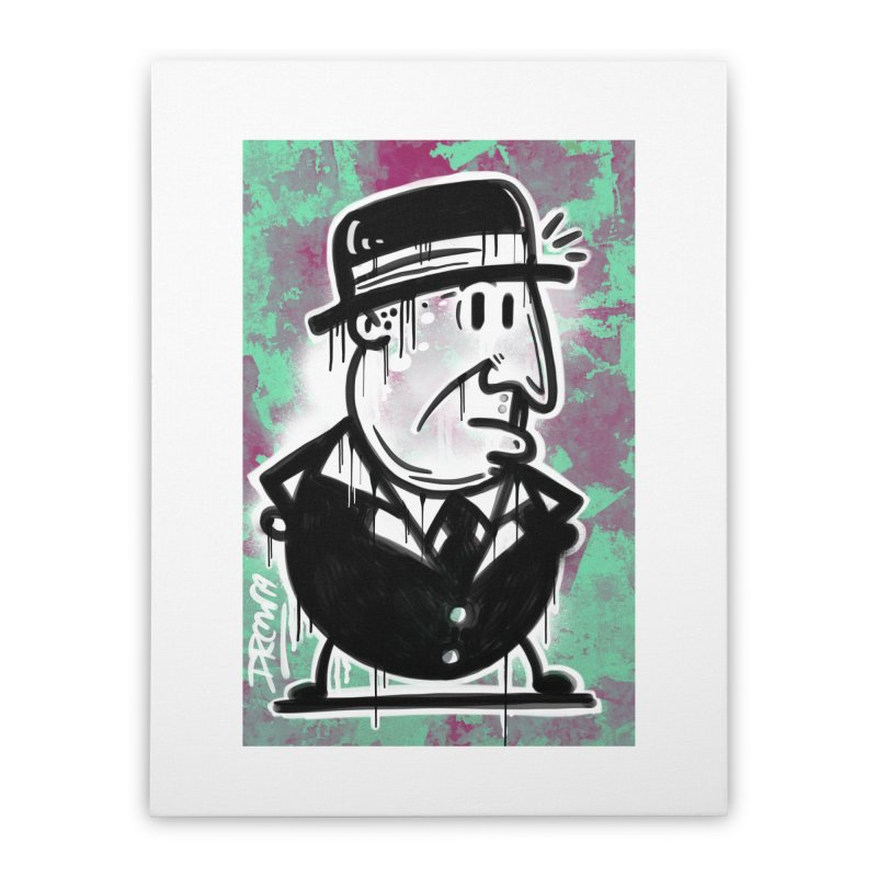 Top Hat Home Stretched Canvas by Fuzzy Poet's Artist Shop