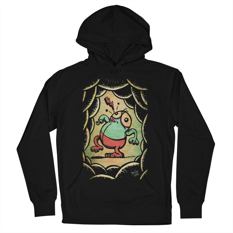 Tiptoe Through The Meanies Men's French Terry Pullover Hoody by Fuzzy Poet's Artist Shop
