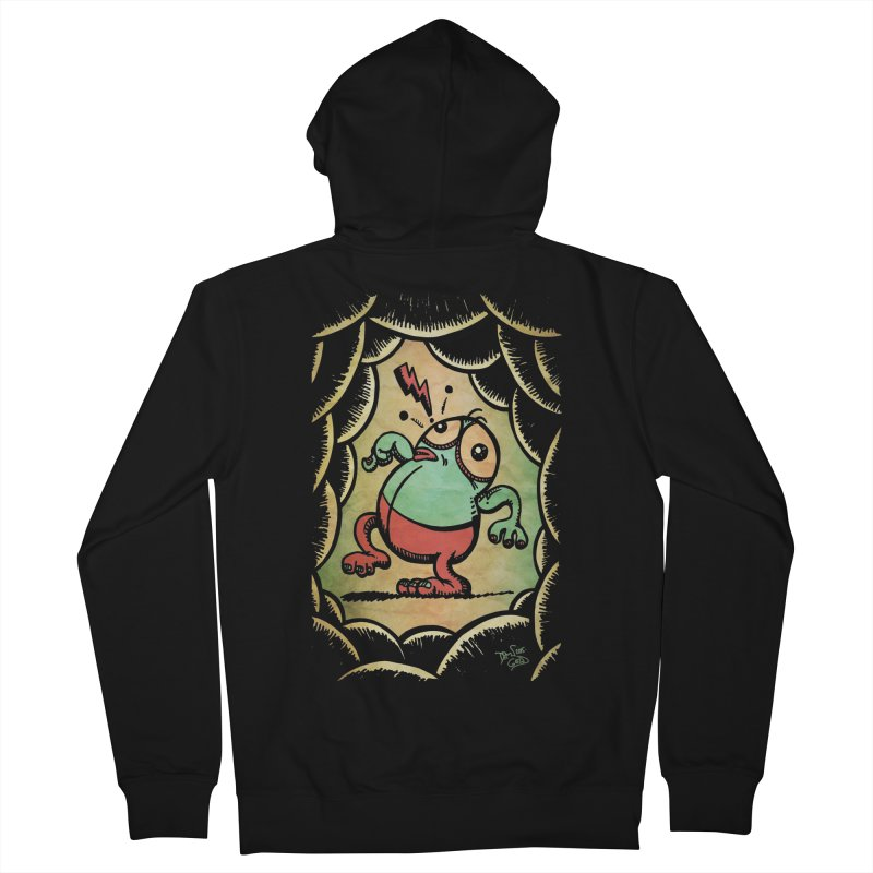 Tiptoe Through The Meanies Men's French Terry Zip-Up Hoody by Fuzzy Poet's Artist Shop