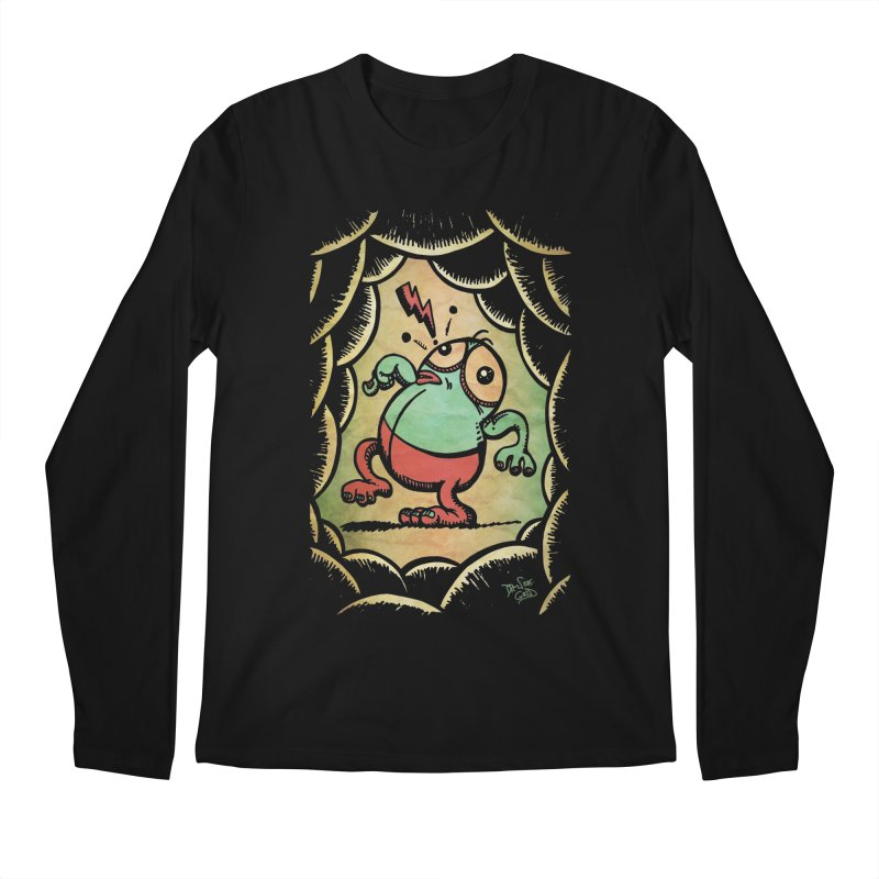 Tiptoe Through The Meanies Men's Regular Longsleeve T-Shirt by Fuzzy Poet's Artist Shop