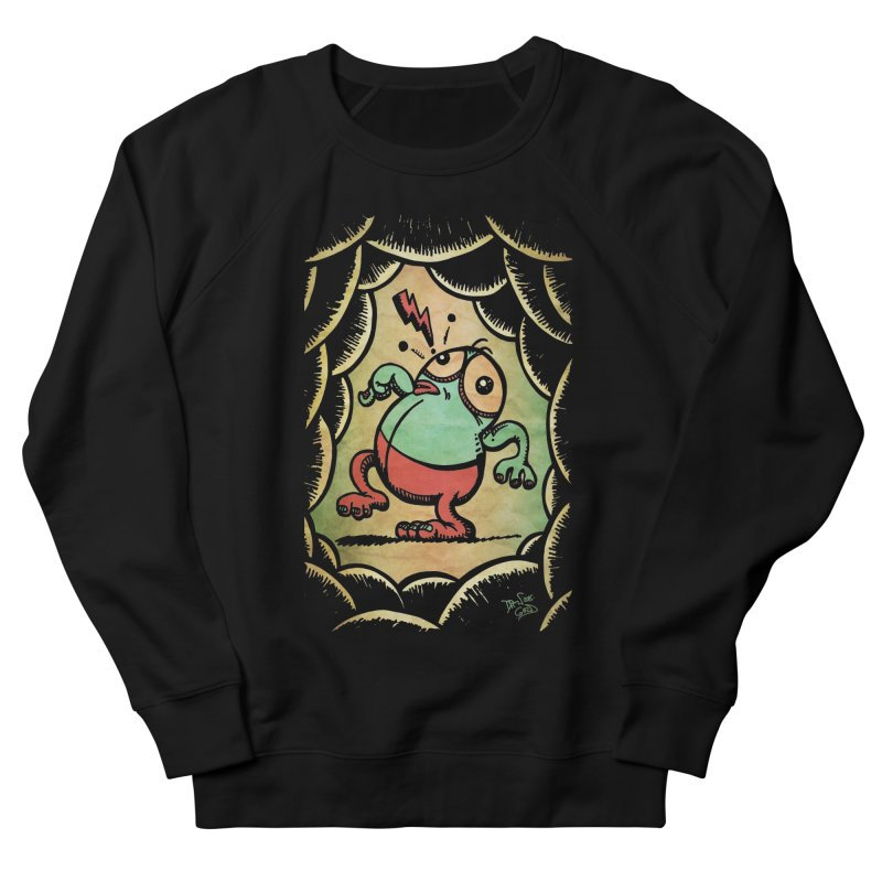 Tiptoe Through The Meanies Men's French Terry Sweatshirt by Fuzzy Poet's Artist Shop