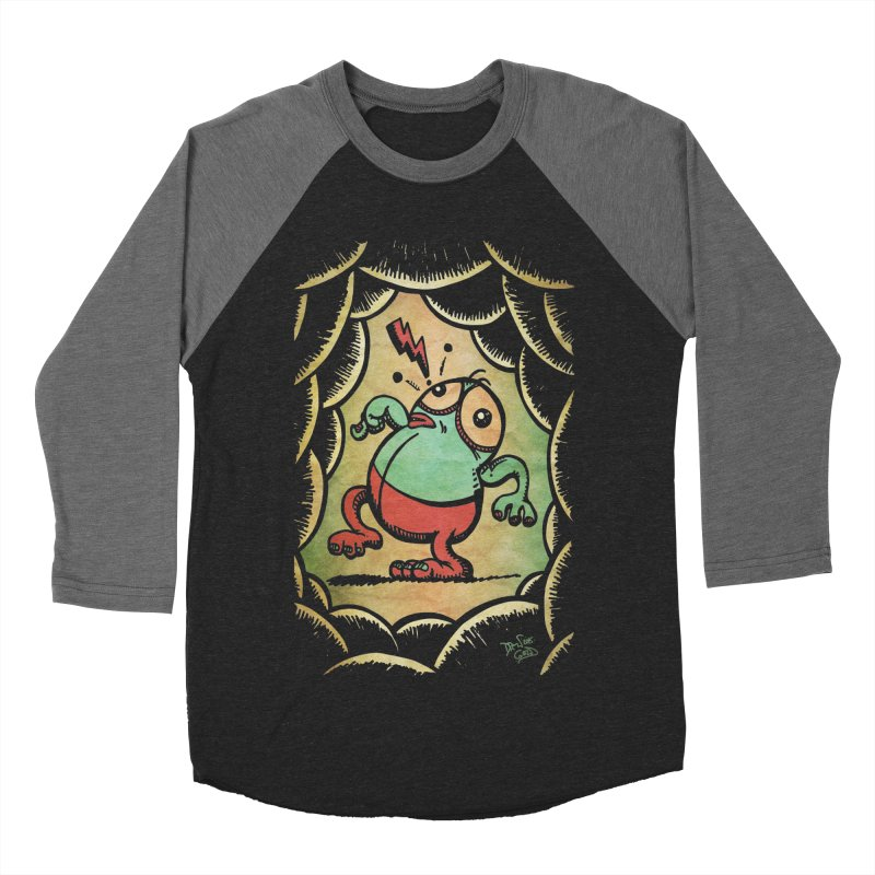 Tiptoe Through The Meanies Men's Baseball Triblend Longsleeve T-Shirt by Fuzzy Poet's Artist Shop