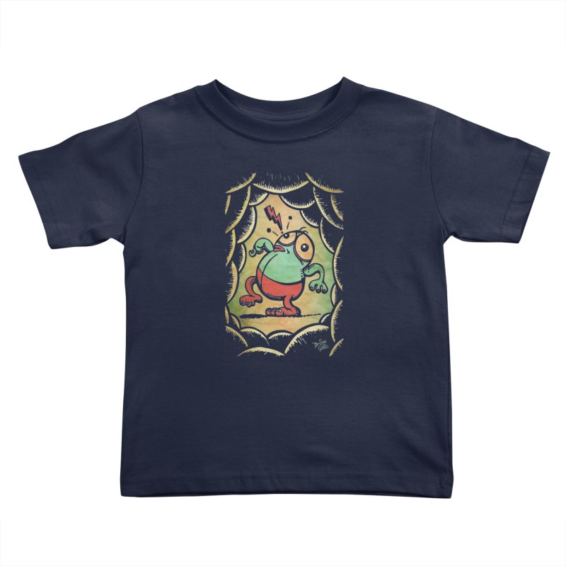 Tiptoe Through The Meanies Kids Toddler T-Shirt by Fuzzy Poet's Artist Shop