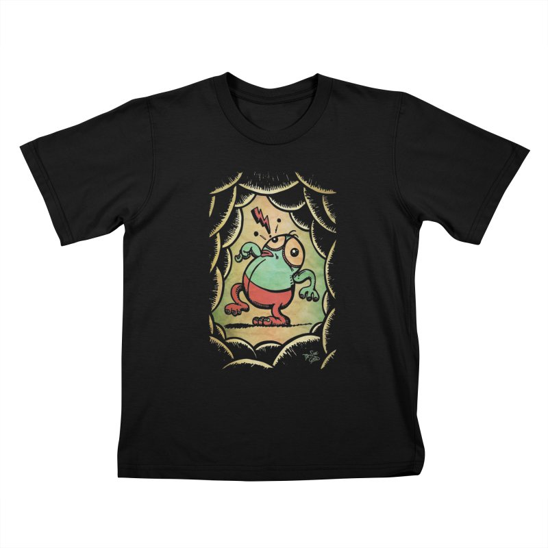Tiptoe Through The Meanies Kids T-Shirt by Fuzzy Poet's Artist Shop
