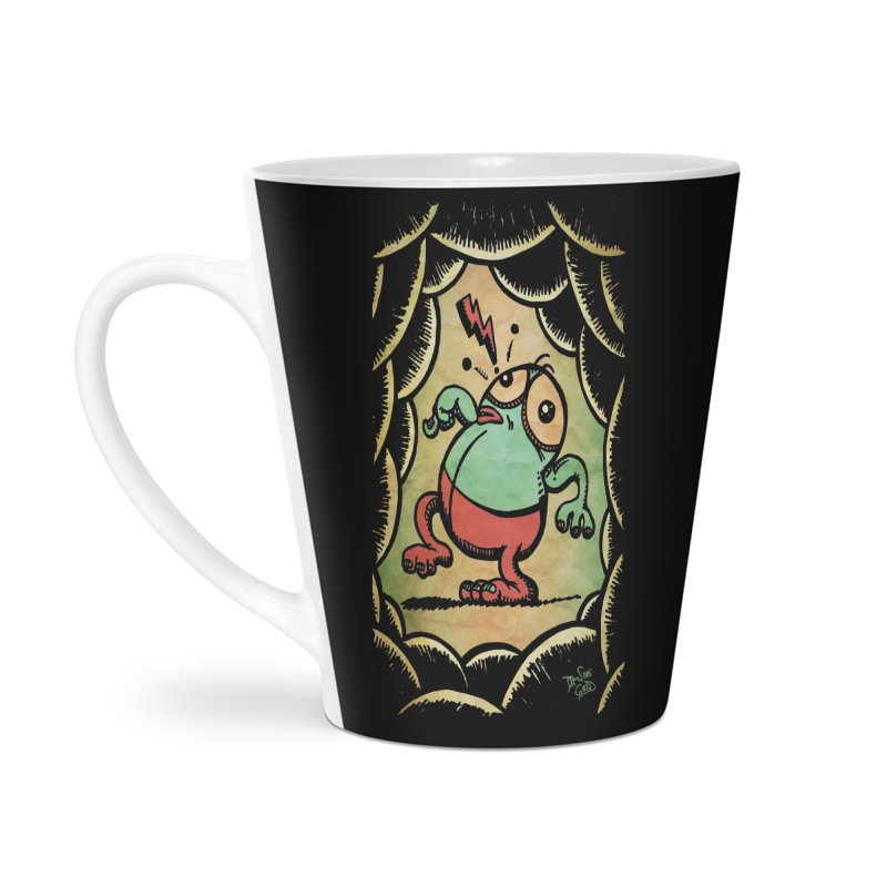 Tiptoe Through The Meanies Accessories Latte Mug by Fuzzy Poet's Artist Shop