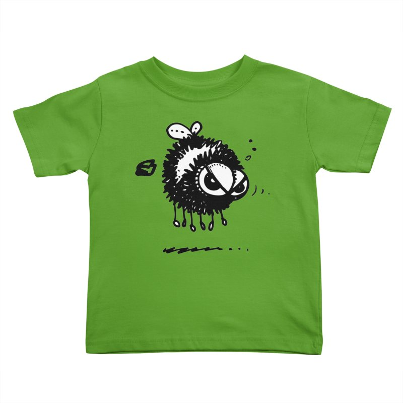 The Angry Bee Kids Toddler T-Shirt by Fuzzy Poet's Artist Shop