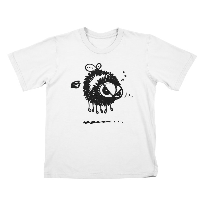 The Angry Bee Kids T-Shirt by Fuzzy Poet's Artist Shop