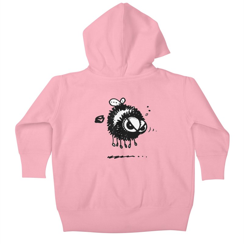 The Angry Bee Kids Baby Zip-Up Hoody by Fuzzy Poet's Artist Shop