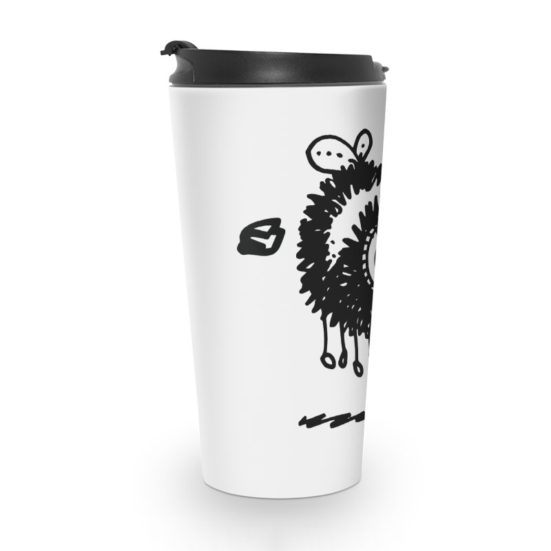 The Angry Bee Accessories Travel Mug by Fuzzy Poet's Artist Shop