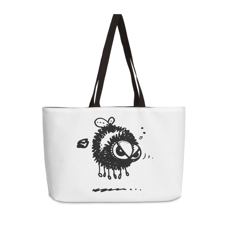 The Angry Bee Accessories Weekender Bag Bag by Fuzzy Poet's Artist Shop