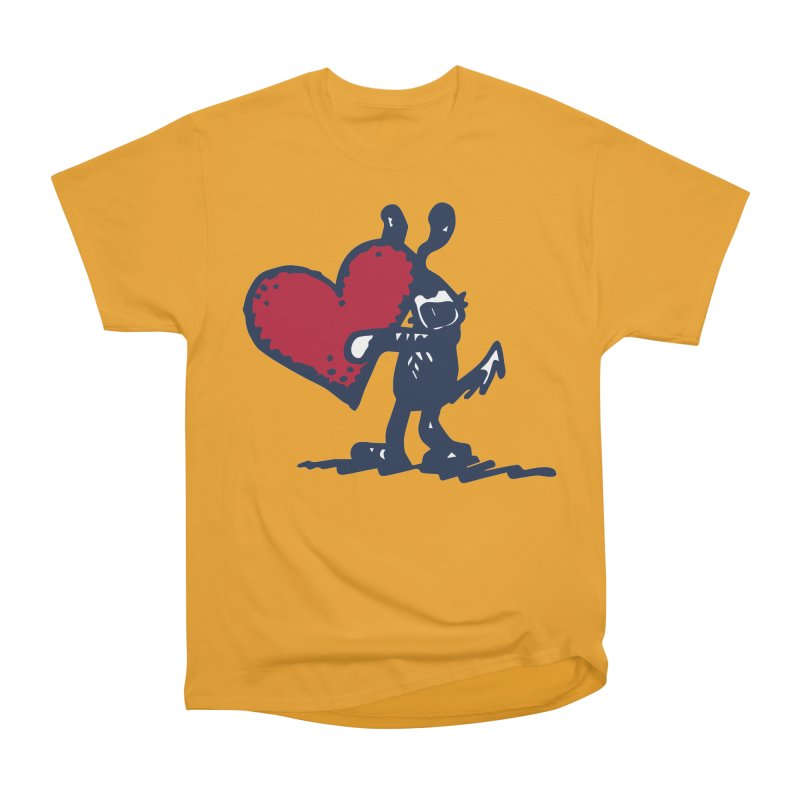 Made With Love Women's Heavyweight Unisex T-Shirt by Fuzzy Poet's Artist Shop