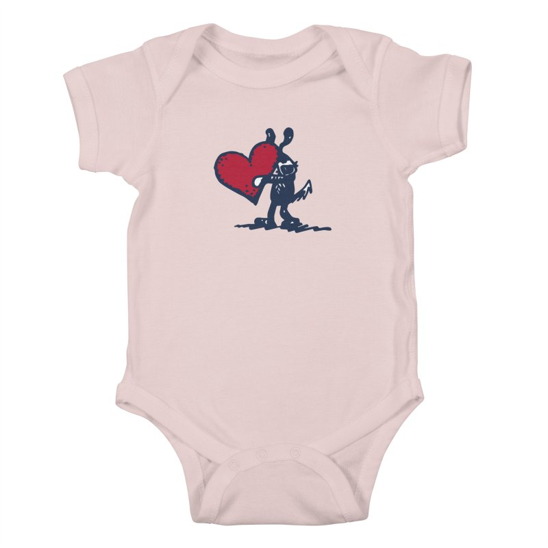 Made With Love Kids Baby Bodysuit by Fuzzy Poet's Artist Shop