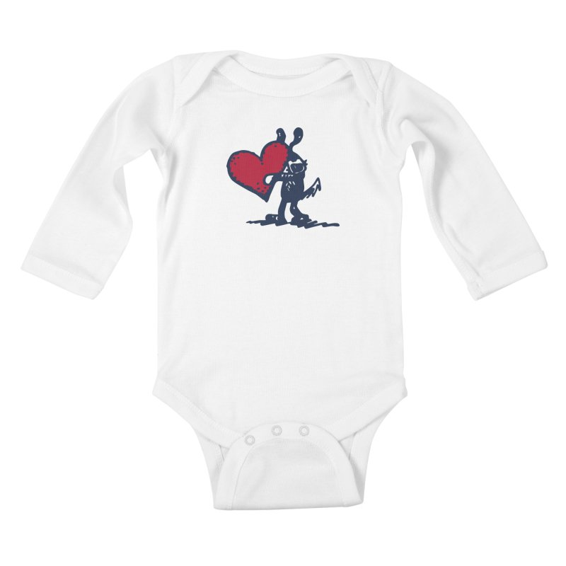 Made With Love Kids Baby Longsleeve Bodysuit by Fuzzy Poet's Artist Shop