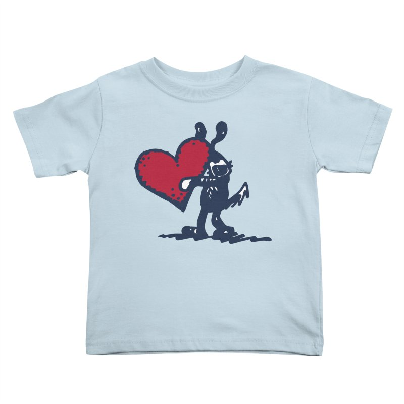 Made With Love Kids Toddler T-Shirt by Fuzzy Poet's Artist Shop