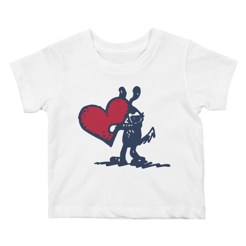 Made With Love Kids Baby T-Shirt by Fuzzy Poet's Artist Shop