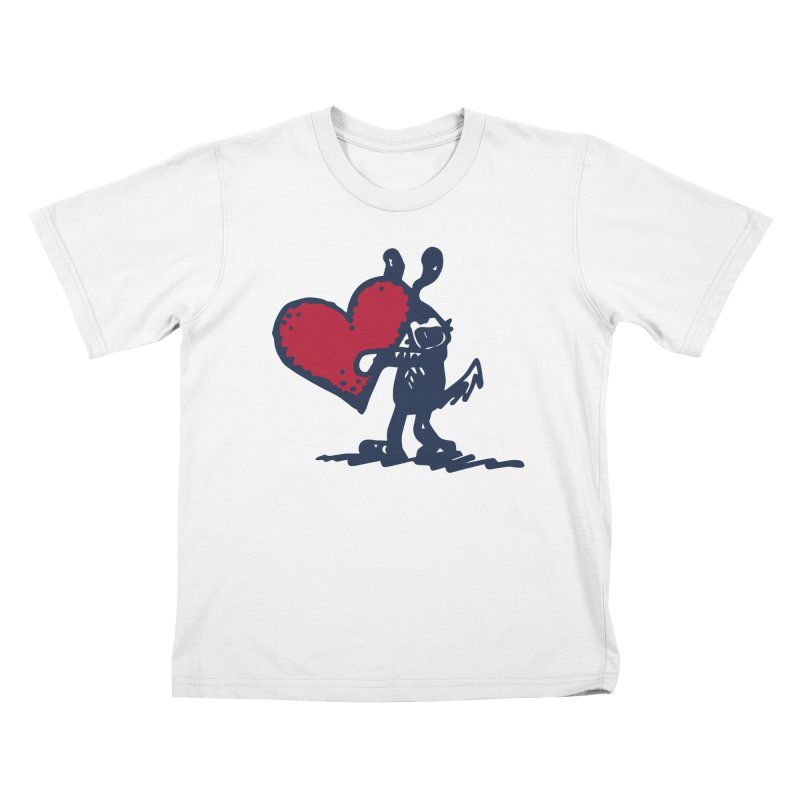 Made With Love Kids T-Shirt by Fuzzy Poet's Artist Shop