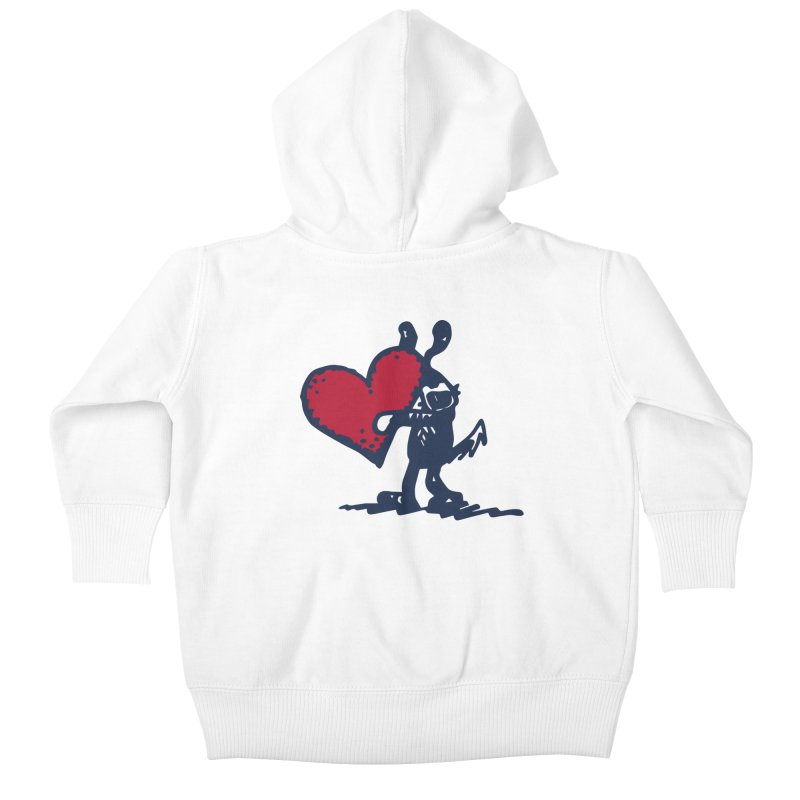 Made With Love Kids Baby Zip-Up Hoody by Fuzzy Poet's Artist Shop