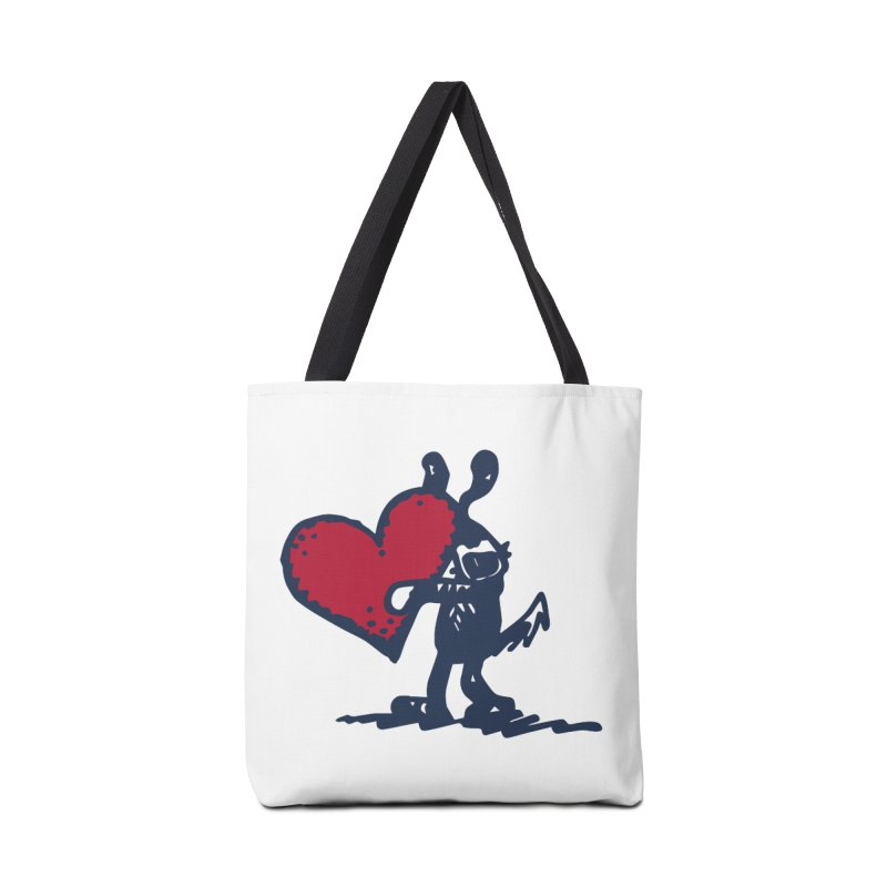 Made With Love Accessories Tote Bag Bag by Fuzzy Poet's Artist Shop