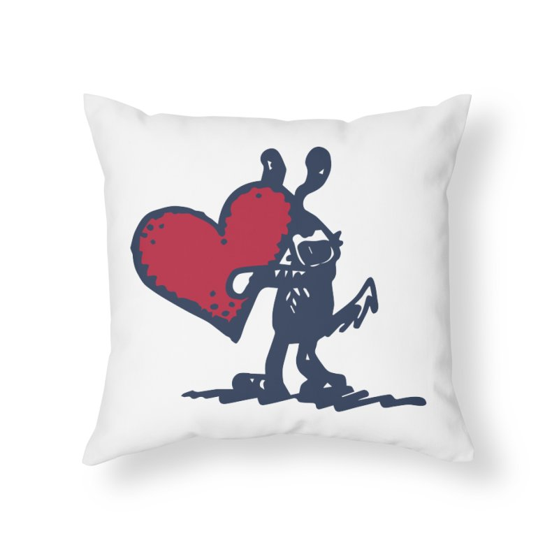 Made With Love Home Throw Pillow by Fuzzy Poet's Artist Shop