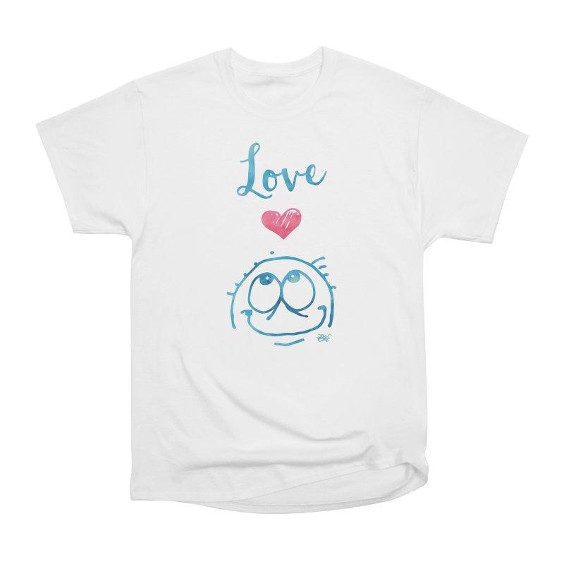 Love Smile Women's Heavyweight Unisex T-Shirt by Fuzzy Poet's Artist Shop
