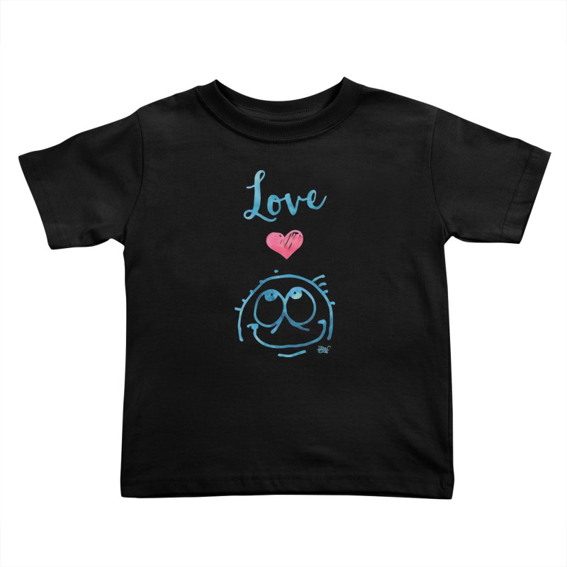 Love Smile Kids Toddler T-Shirt by Fuzzy Poet's Artist Shop